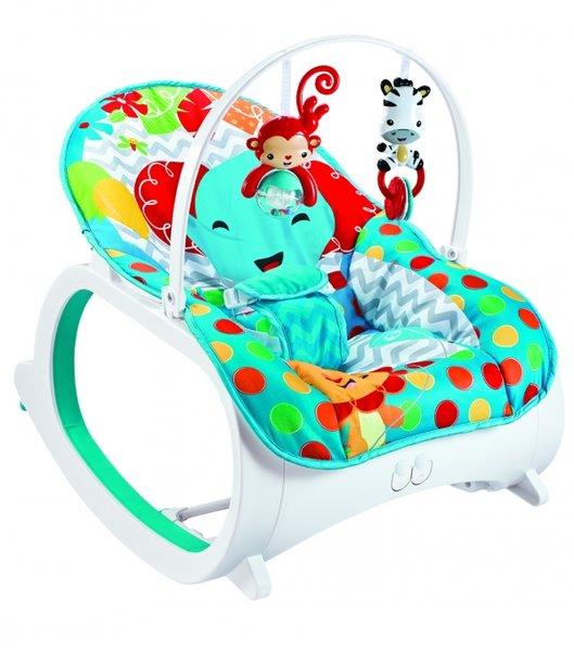 Bebe Stars Музикален шезлонг Baby Rocker Elephant 315-175